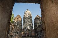 ASIA THAILAND SUKHOTHAI WAT SI SAWAI TEMPLE