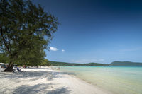 Saracen Bay beach in Koh Rong Samloen island in Cambodia