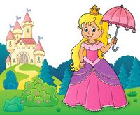 Princess with umbrella theme image 3