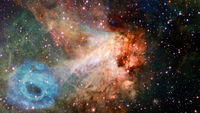 Deep space nebula with stars. Elements of this image furnished by NASA