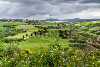 Scenery of Val d'Orcia in Tuscany