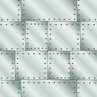 Seamless vector texture with riveted metal sheets. You can create the wallpaper with this pattern, color of elements can be changed as you want.