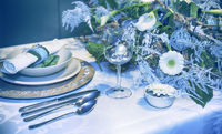 winter party table