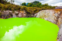 Devil's Bath with green water