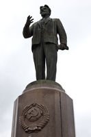 KALININGRAD, RUSSIA- SEPTEMBER 1, 2019: Monument to Mikhail Kalinin, in whose honor the city of Kali