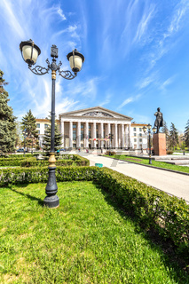 Palace of Culture and monument to soviet statesman S. M. Kirov
