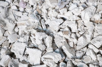 waste pile of styropor or styrofoam trash in disposable landfill for recycling -