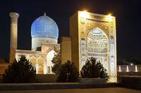 Mausoleum of Bibi Khanum at night, Uzbekistan, Samarkand