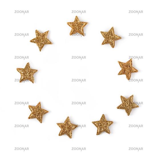 Shining stars on white background