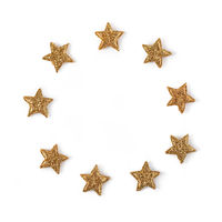 Shining stars on white background