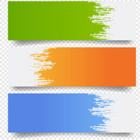 Banners Set With Blobs Isolated Transparent Background