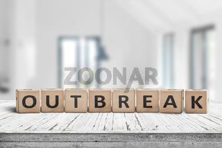 Outbreak message on a desk