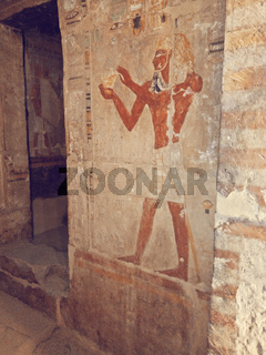 detail of Luxor Temple, Egypt