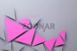 Minimal Geometric Composition Over Gray Paper Background