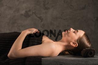 Woman getting spa treatment
