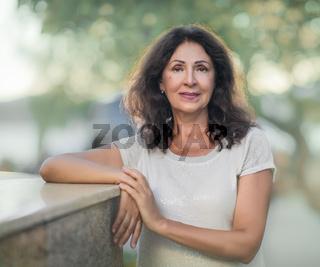 Outdoor portrait of a beautiful senior woman