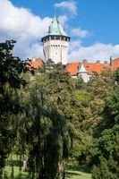 Smolenice Castle with trees in foreground