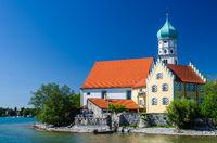 Church of Saint Georg in Wasserburg on Lake Constance, Bavaria, Germany