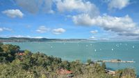 view from Tihany to Lake Balaton,Hungary