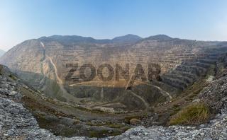 open pits iron mine panorama