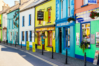Colourful buildings around the coastal village of Dingle
