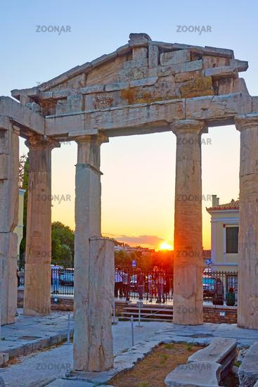 Gate of Athena Archegetis at Roman Forum in Athens