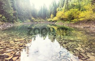 Lake in Carpathian mountains