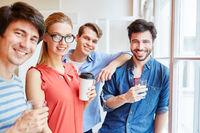 Erfolgreiches junges Start-Up Team