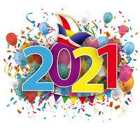 Carnival Colored 2021 Balloons Confetti