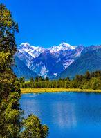 Mirror glacial lake