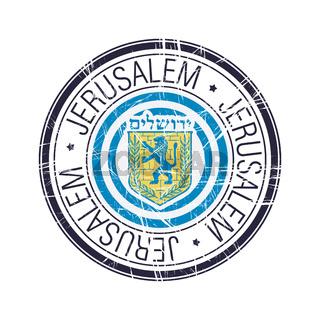 City of Jerusalem, Israel vector stamp