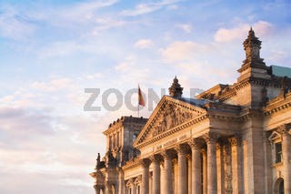 The Reichstag in the late evening sunlight