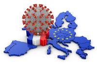 Coronavirus France map