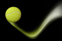 Tennis Ball Taking a Bounce