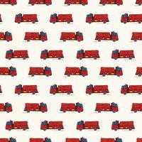Fire truck doodle pattern.eps