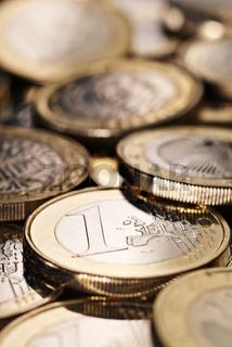 Euro Münzen als Nahaufnahme