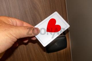 keyless door unlock red heart love