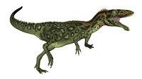 Masiakasaurus dinosaur roaring - 3D render