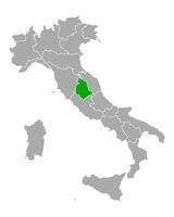 Karte von Umbrien in Italien - Map of Umbria in Italy