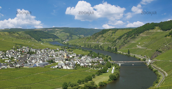 Trittenheim at Mosel River in Mosel Valley,Germany