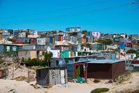 shacks in informal settlement in khayelitsha township