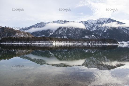 Sylvenstein Reservoir, Bavaria, Germany