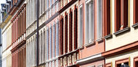 colourful facades of houses from the late nineteenth century in cologne ehrenfeld