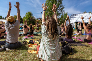 Guided meditation and yoga in nature