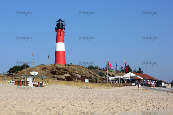 Lighthouse and beach in the South of Sylt