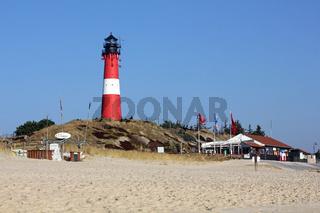 Leuchtturm und Strand im Süden von Sylt