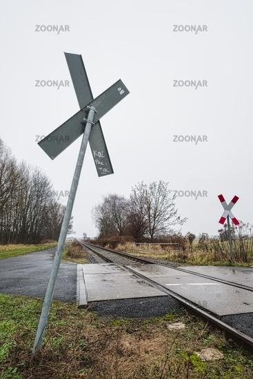 Former Heidekrautbahn railroad line, Blankenfelde, Berlin, Germany