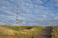 Cliff edge path and transmission tower, Helgoland