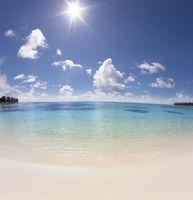 beautiful beach and sunlight