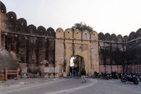 Entrance Gate to Nahargarh Fort in Jaipur, India